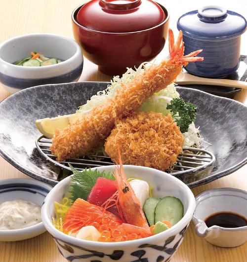海鮮彩り膳
