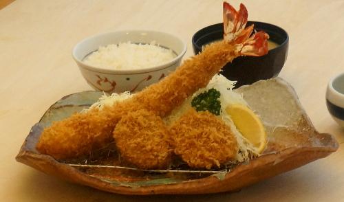 ジャンボ海老&ヒレかつ定食