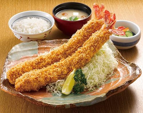 W超ジャンボ海老定食