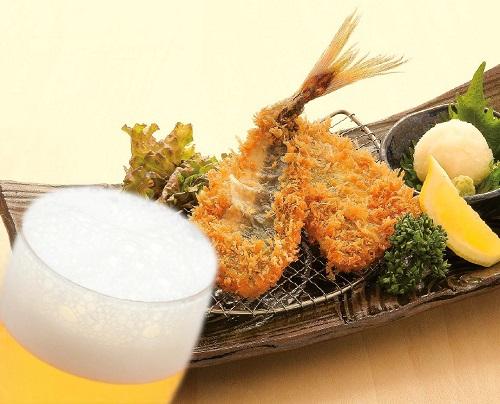 鯵かつ&生ビール
