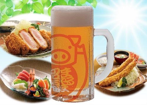 生ビール冷えてます