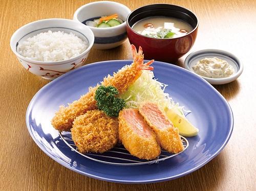 サーモンミックス定食