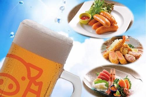 生ビール&おつまみイメージ